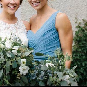 Kennedy Blue 1 Shoulder Dress - Slate Blue